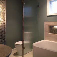 Contemporary Bathroom by H&M Glass Hershey