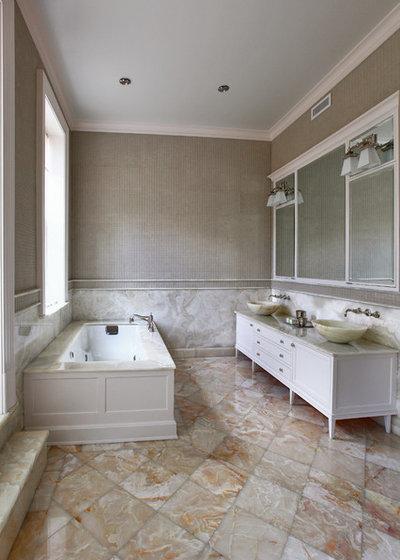 Eclectic Bathroom by valerie pasquiou interiors + design, inc