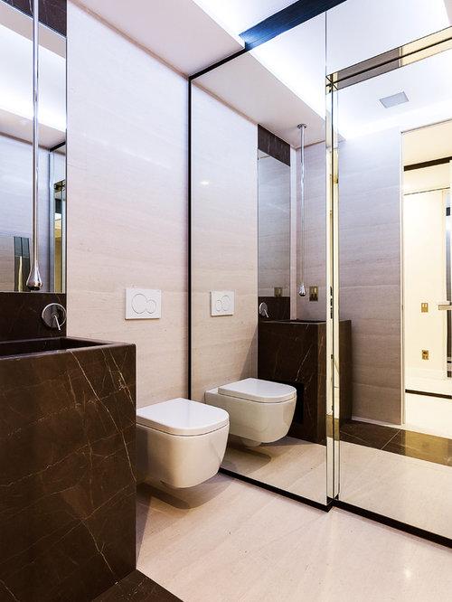 Foto e idee per bagni bagno con top in marmo - Bagno marmo bianco ...