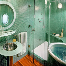 Eclectic Bathroom by Kindred Construction Ltd.