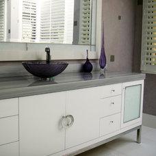 Contemporary Bathroom by Susan Lachance Interior Design