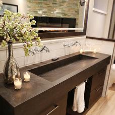 Transitional Bathroom by Studio Grey
