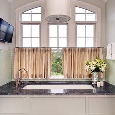 Transitional Bathroom by Fraser Design