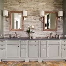Transitional Bathroom by Fraser Design