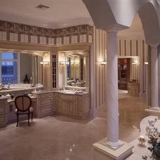 Mediterranean Bathroom by Rey Hernandez Interior Design