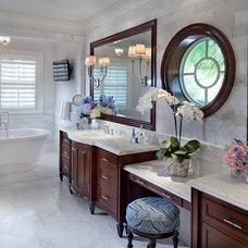 Traditional Bathroom by Equilibrium Interior Design Inc / Interiors
