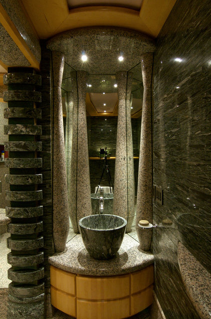 Contemporary Bathroom by DUNIS STONE, INC.