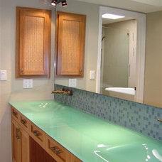 Tropical Bathroom by K2 Design, Inc.