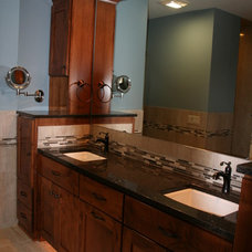 Traditional Bathroom by Kathie Karsnia Interiors