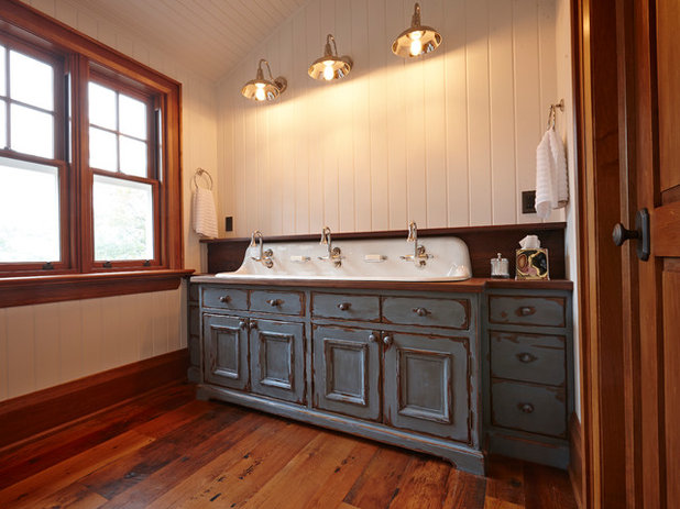 Nice Rustic Bathroom by Thomas James Cabinetry Inc