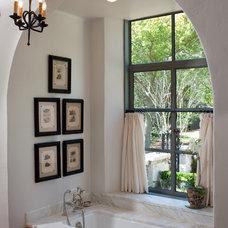 Mediterranean Bathroom by The Robert K. Higgins Company