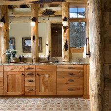 Rustic Bathroom by ThinkOne