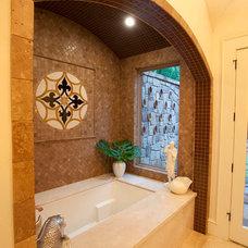 Mediterranean Bathroom by Larry Lott Interiors