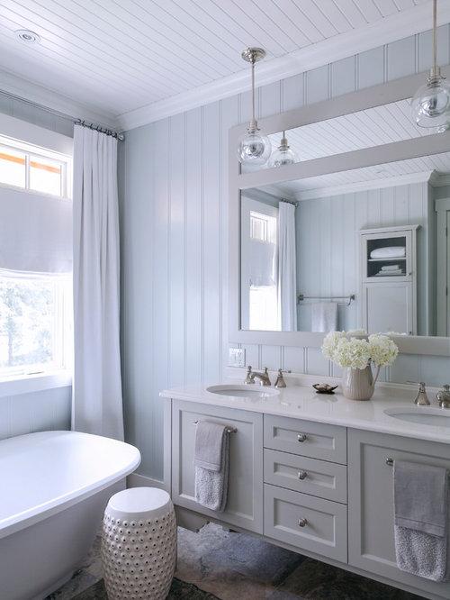 Contemporary Bathroom Design Ideas With Beadboard Decorating