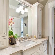 Craftsman Bathroom by Carolyn Woods Design Inc.