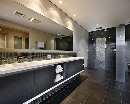 Dark Bathroom Home Design Ideas, Pictures, Remodel and Decor
