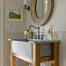 Transitional Bathroom by Honey Collins Interior Design