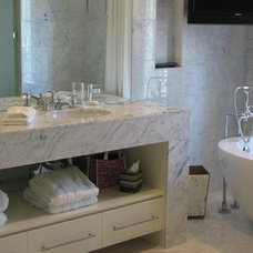 contemporary bathroom by Brookside Custom Homes, LLC.