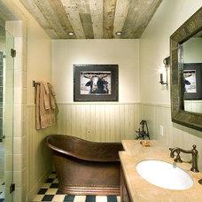 Rustic Bathroom by Mitch Allen Photography