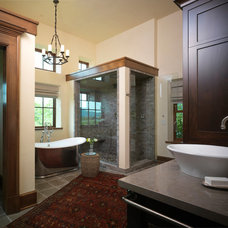 Rustic Bathroom by Snake River Interiors