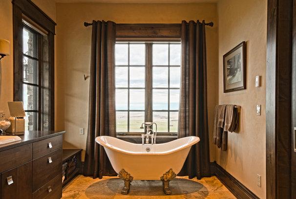 Traditional Bathroom by Claudia Krevat