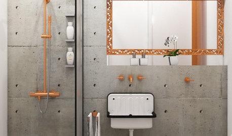 ¿Buscas un estilo industrial en el baño? Usa materiales técnicos