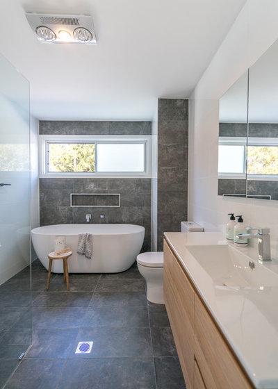 Beach Style Bathroom by Sapphire Living Interiors