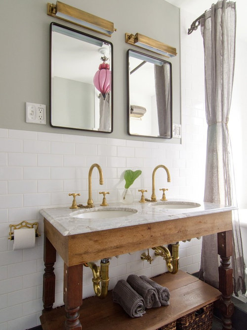 SaveEmail. Houzz   Antique Brass Bathroom Faucets Design Ideas   Remodel Pictures
