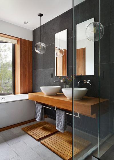 コンテンポラリー 浴室 by Etelamaki Architecture