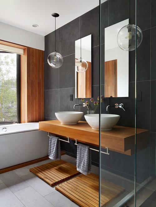 Badezimmer Fliesen Grau Holz : Heilmagnetisieren Badezimmer Fliesen Grau  Holz Ansicht