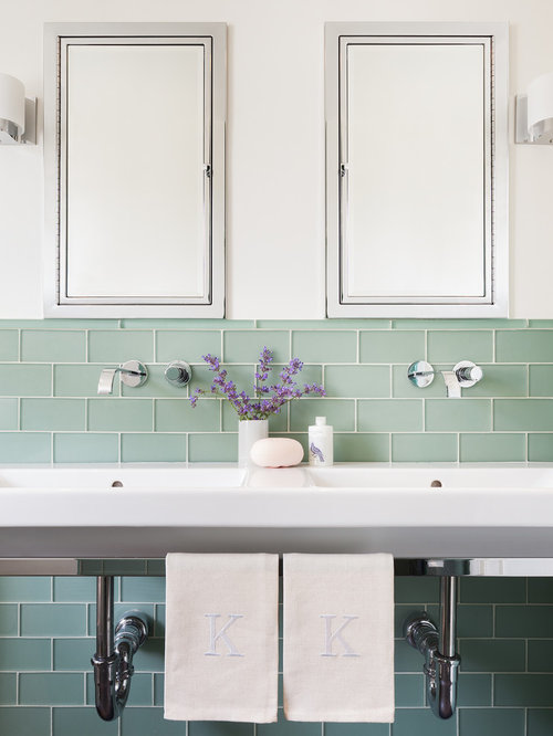 Green Glass Subway Tile Home Design Ideas Pictures