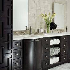 Transitional Bathroom by Walker Zanger