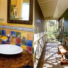 Tropical Bathroom by Cynthia Marks - Interiors