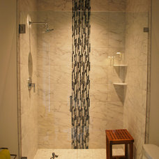 Tropical Bathroom by Crosby Creations Drafting & Design Services, LLC