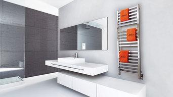 Quadro Q-2054P  Polished Heated Towel Rack