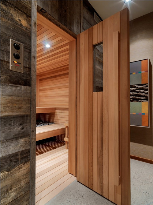 Home Gym With Wet Sauna | Houzz