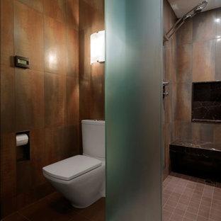 Mountain style alcove shower photo in Burlington