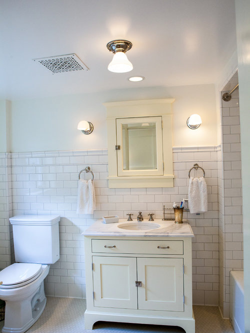 Craftsman White Tile And Subway Tile Bathroom Idea In Seattle With An  Undermount Sink, Shaker Part 40