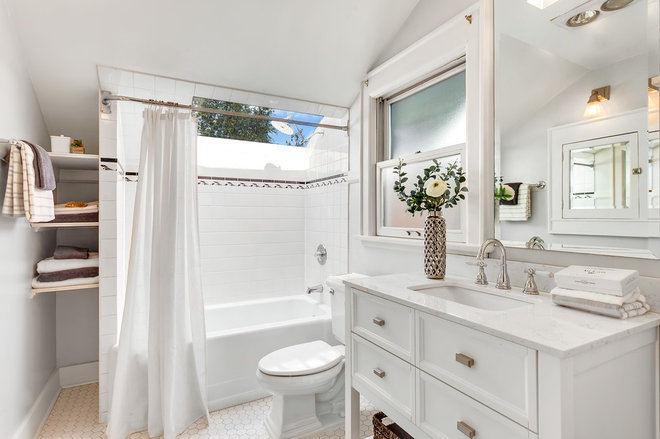 Craftsman Bathroom by Seattle Staged to Sell and Design LLC