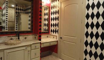 Queen of Hearts Bathroom Mural