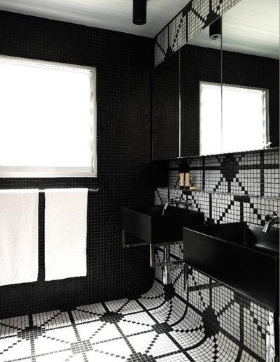 Bagno in bianco e nero: mostrate il vostro lato optical