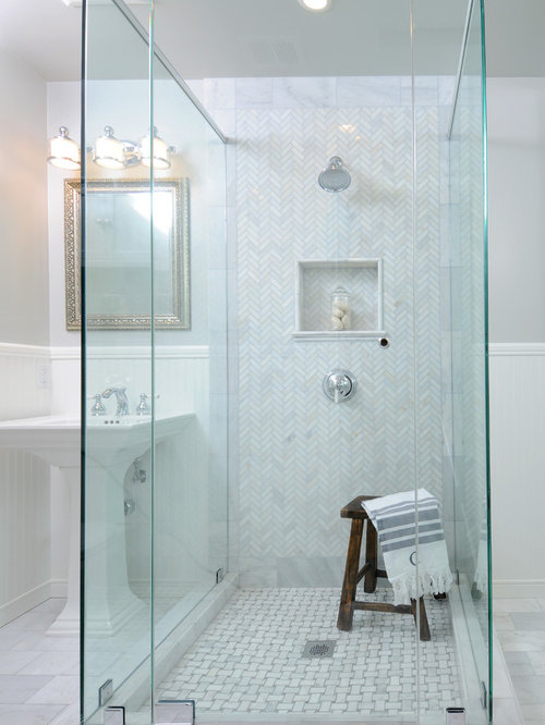 Herringbone Shower Home Design Ideas Pictures Remodel And Decor