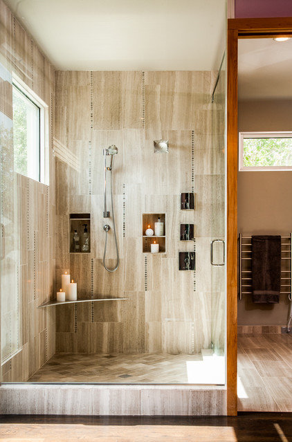 Contemporary Bathroom by Allison Jaffe Interior Design LLC