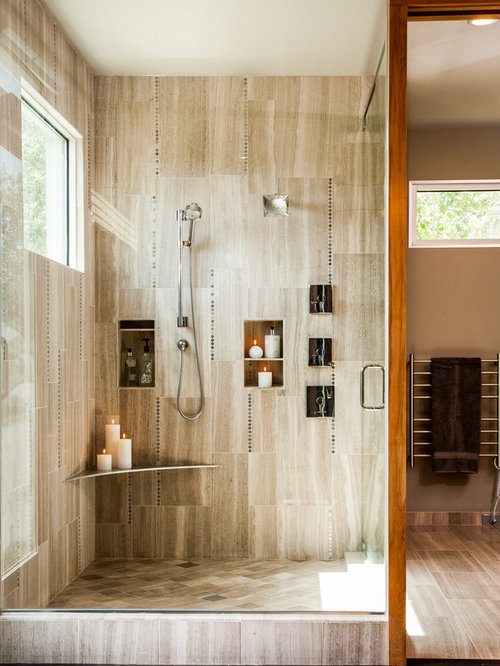Vertical Tile Shower Home Design Ideas Pictures Remodel