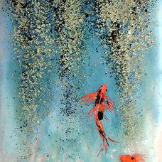 Mediterranean Bathroom by Designer Glass Mosaics