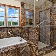 Eclectic Bathroom by Granite Grannies