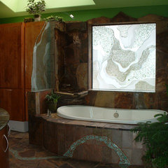 tropical bathroom by Sarah Ames