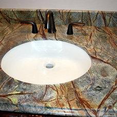 Contemporary Bathroom by TZ Granite & Materials LLC