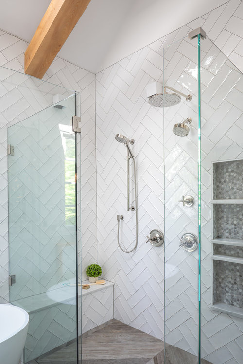 Double Herringbone Tile Size And Grout Thickness For Bathroom