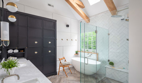 Room Tour: Clever Use of Space and Colour Reboots a Dull Bathroom